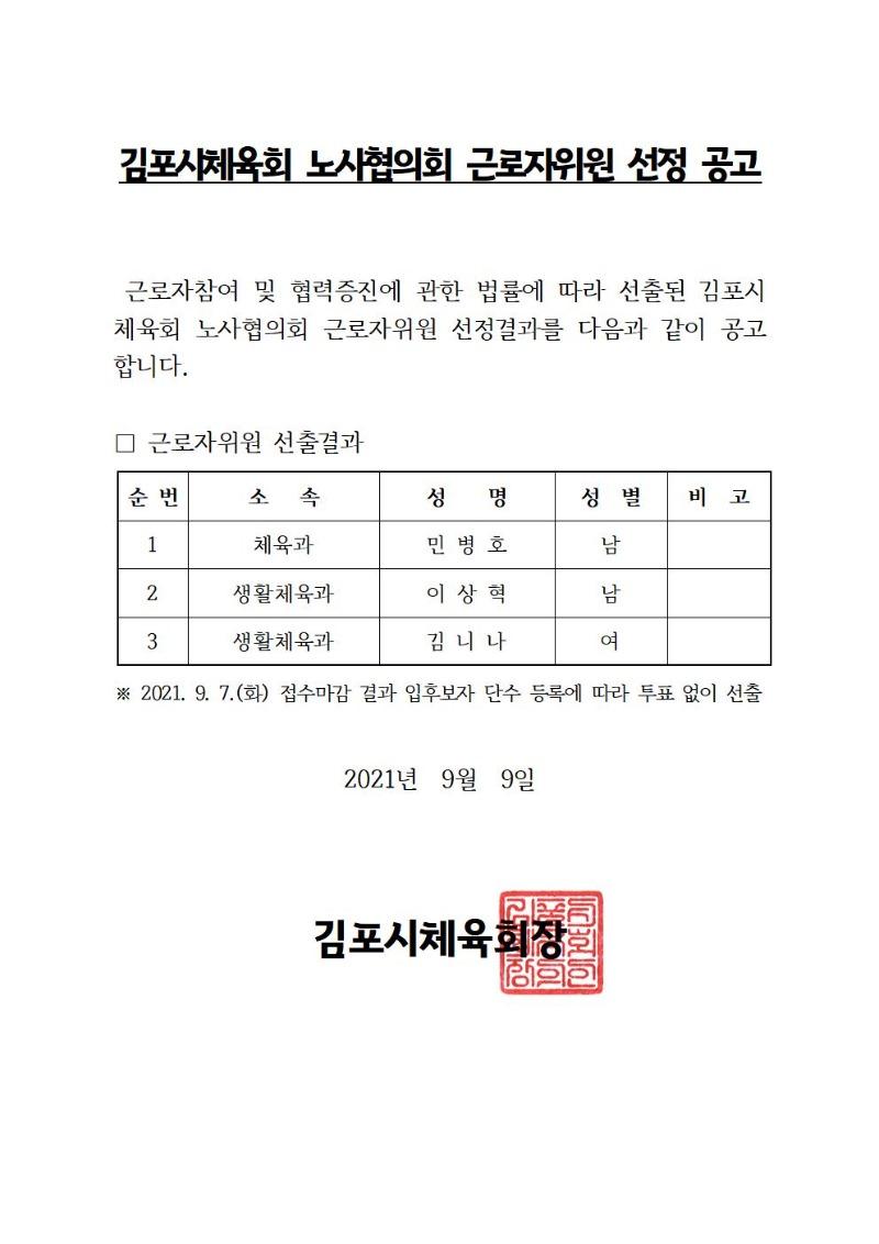 김포시체육회 노사협의회 근로자위원 선정 공고001.jpg